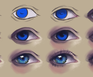 eyes, blue, and draw image