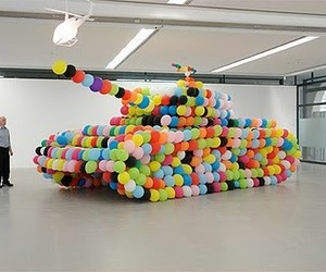 balloons and tank image