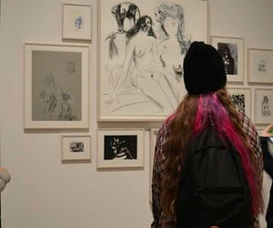 art, dyed hair, and gallery image