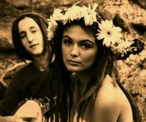 flowers, hippie, and music image