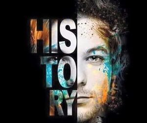 history, louis tomlinson, and one direction image