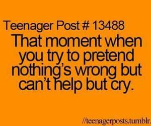 cry, teenager post, and teenager posts image
