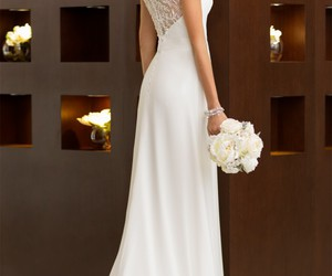 wedding dress, dress, and fashion image