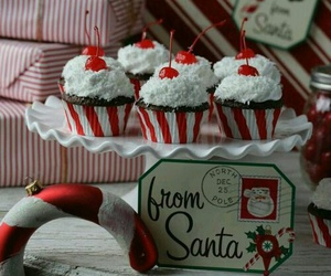 christmas, cupcake, and delicious image