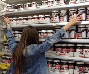 nutella, girl, and food image