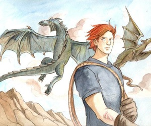 dragons, harry potter, and charlie weasley image