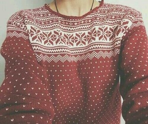 sweater, christmas, and red image