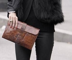 black, fur, and style image