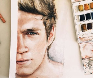 niall horan, art, and drawing image
