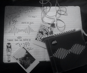arctic monkeys, black and white, and draw image