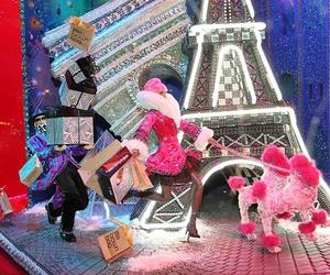france, paris, and christmas window displays image