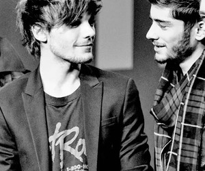 louis tomlinson, zayn malik, and one direction image