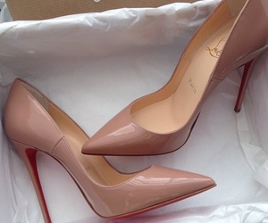 high heels, style, and christian louboutins image