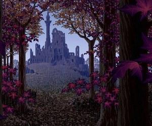 castle, pixel, and rain image