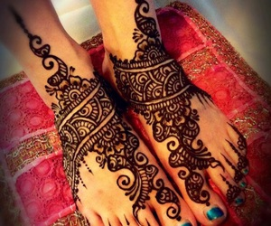 bridal, henna, and indian image
