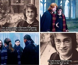 harry potter, daniel radcliffe, and behind the scenes image