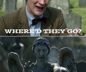 doctor who, matt smith, and weeping angel image