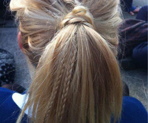 blonde, girl, and ponytail image