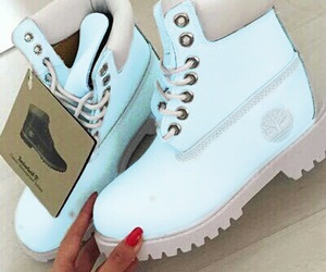 blue, timberland, and want image