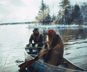couple, boat, and boy image
