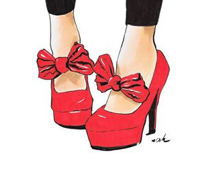 shoes, red, and art image