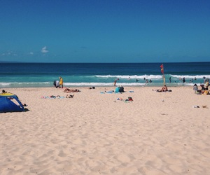 beach, blue, and Queensland image