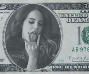 money, dollar, and lana del rey image