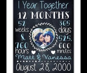 one year, love gift, and anniversary gift image