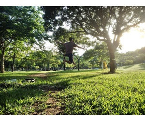 boy, photograph, and Slackline image