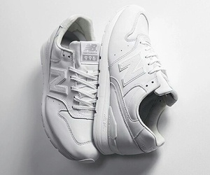 white, new balance, and shoes image