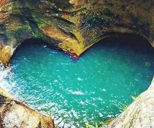 heart, nature, and water image