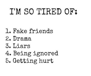 drama, Liars, and tired image