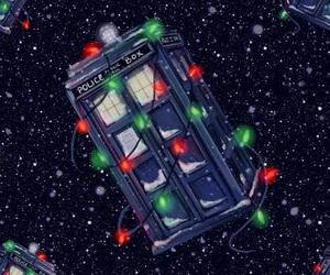 christmas and tardis image