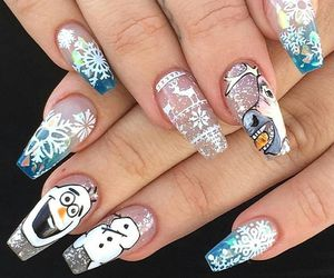 christmas, frozen, and nails image