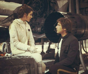 star wars, han solo, and carrie fisher image