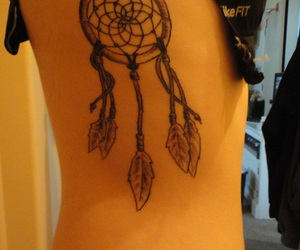 feathers, infinity, and tattoo image