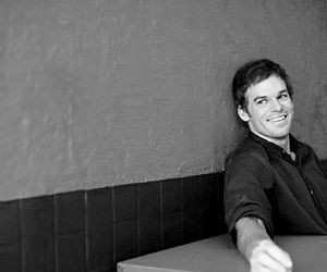 black and white, michael c hall, and sexy image