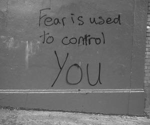 Darkness, fuck society, and graffiti image