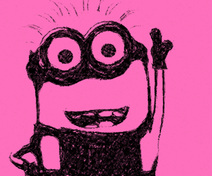 cute and pink. minion image
