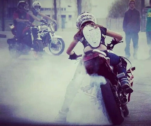 girl, moto, and love image