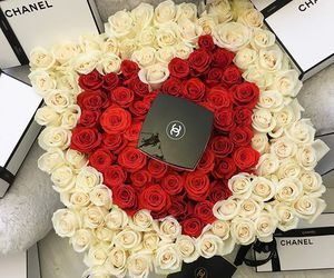 chanel, roses, and flowers image