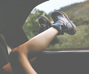 car, girl, and legs image