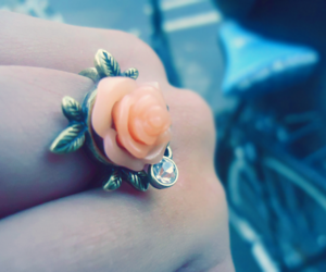 fashion, flower, and ring image