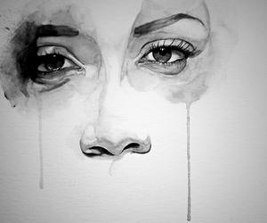 art, eyes, and drawing image