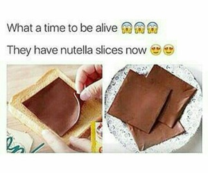 nutella, food, and OMG image