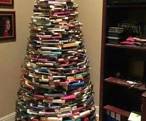 book, christmas, and tree image