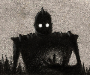 black and white and iron giant image