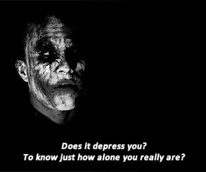 alone, joker, and quotes image