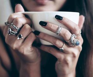 rings, bohemian, and nails image