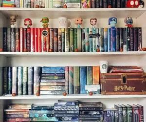 books, bookshelf, and reading image